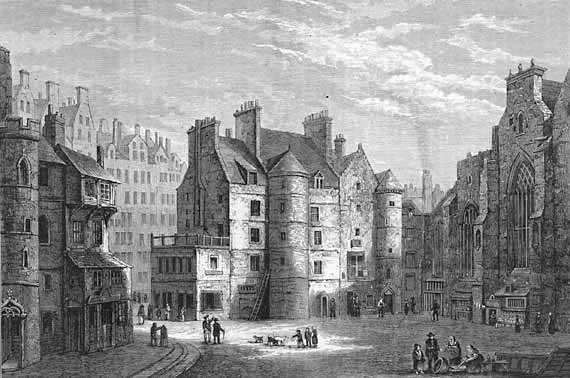 Drawing of the Tolbooth