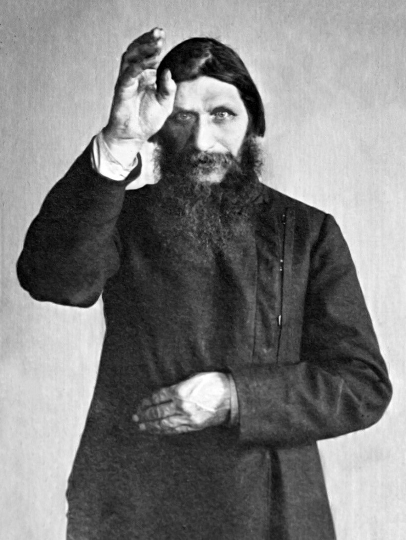 Rasputin crossing the viewer