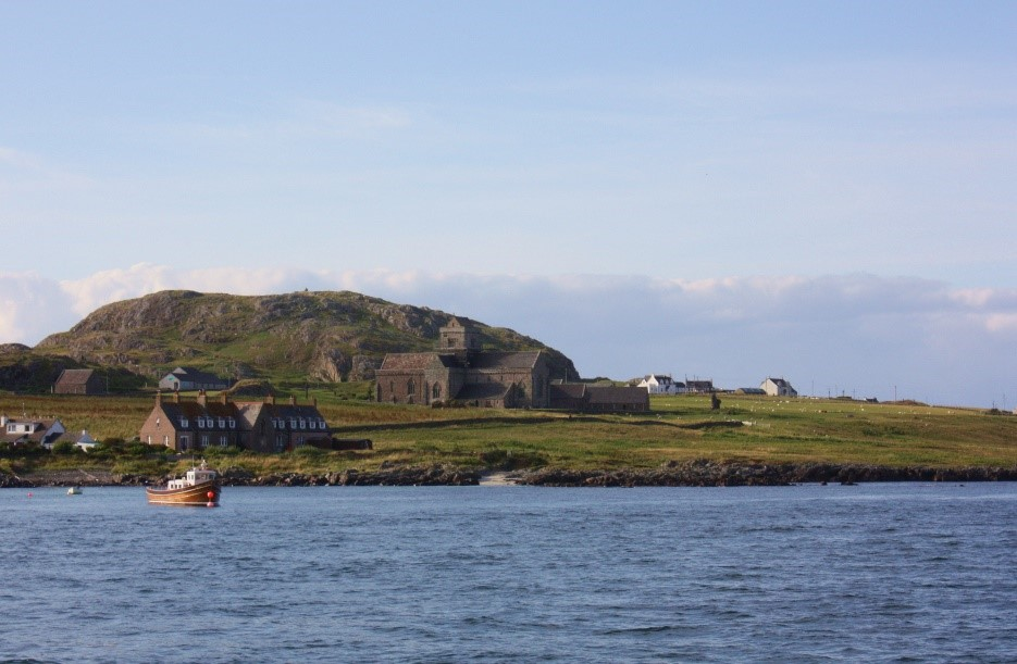 Iona's monastery from the sea