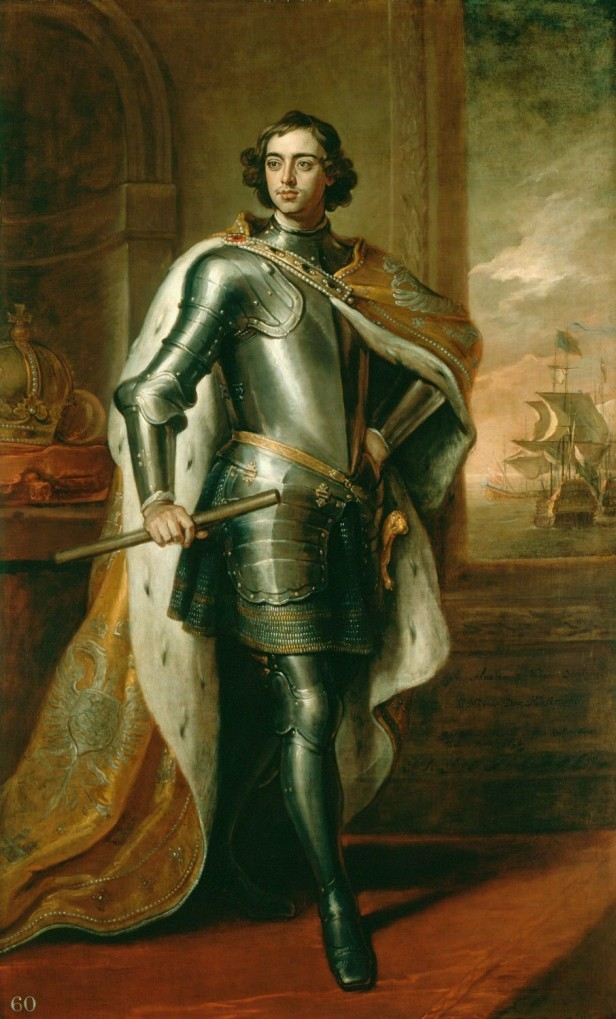 Peter with royal regalia and armour
