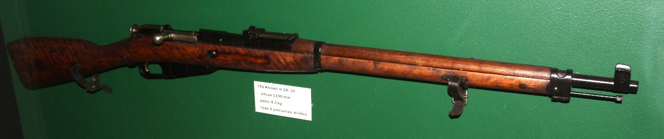 A rifle of the same model that Simo Häyhä used