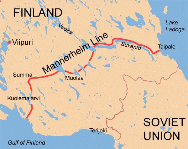Winter War front line in the Karelian Isthmus