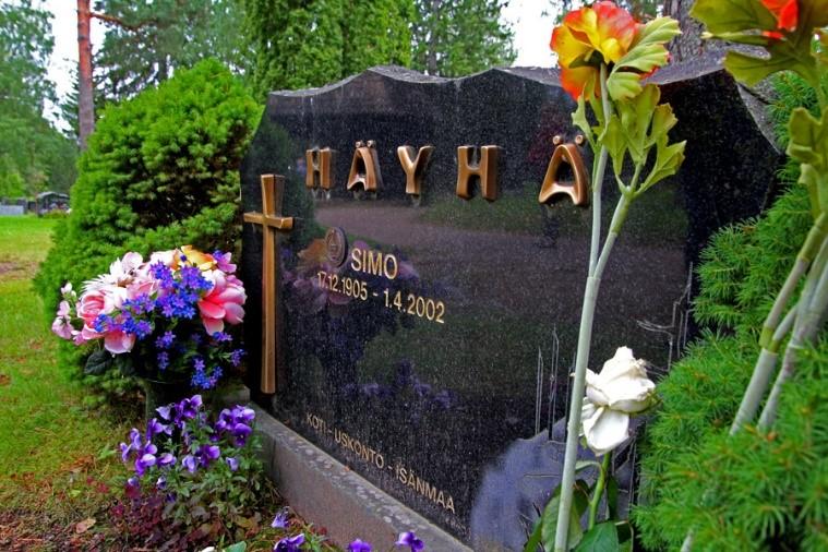 Simo Häyhä's resting place