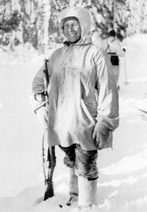 Simo Häyhä. A man of short height