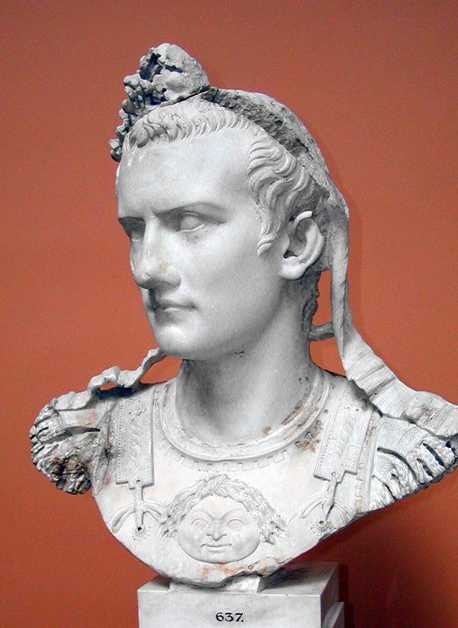 The Roman Emperor Caligula. Ny Carlsberg Glyptotek. Uploaded to Wikipedia by: Louis le Grand