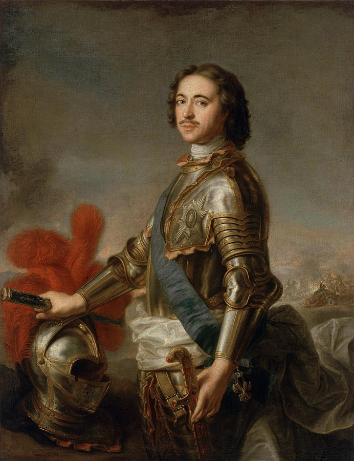 Peter the Great of Russia. Founder of the Russian Empire and one of the most remarkable Russians ever. Painter: Jean-Marc Nattier. Photographer: The Hermitage. Source: Wikipedia