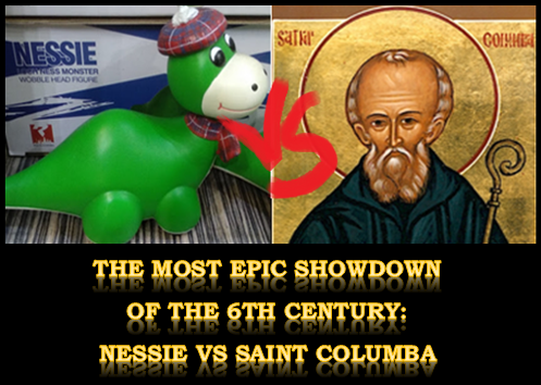 Saint Columba vs the Loch Ness monster