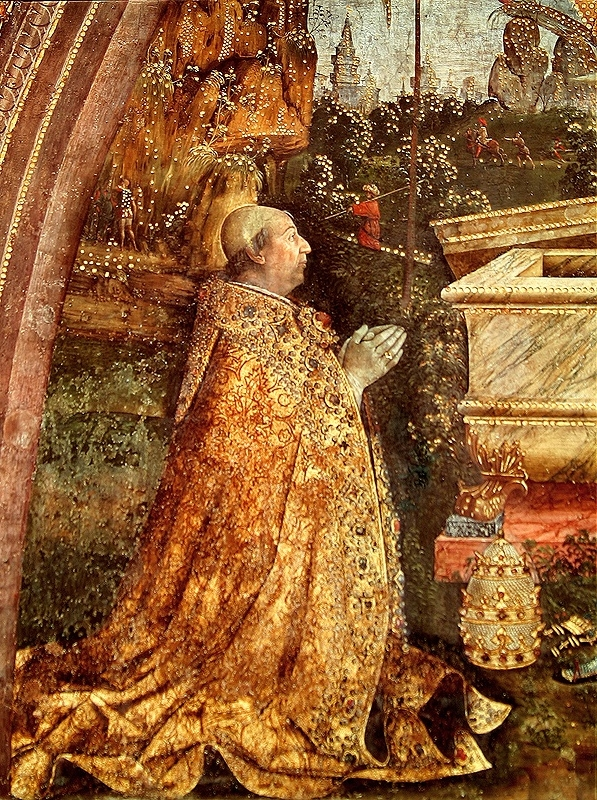 Pope Alexander VI praying