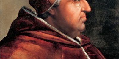 Portrait of Rodrigo Borgia as Pope Alexander VI. Painting by Cristofano dell'Altissimo. Collection: Vasari Corridor. Source: Wikipedia