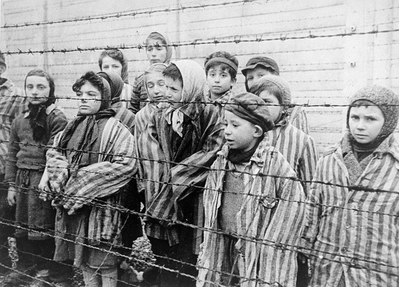 Children who survived Auschwitz. Taken by Alexander Voronzow and other Soviet soldiers who liberated them. Obtained from: Wikipedia