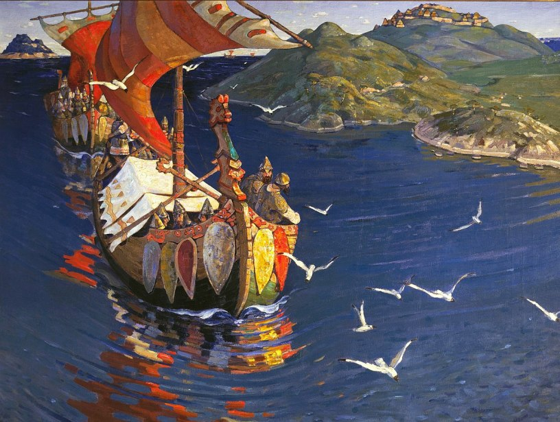 Guests from overseas. Painting by Nicholas Roerich, 1901. Source: Wikipedia