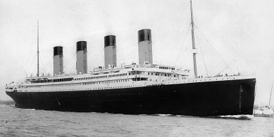 The Titanic departing Southampton on its maiden voyage, April 10th 1912. Source: Wikipedia