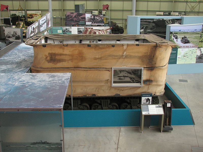 DD Sherman displayed in a museum