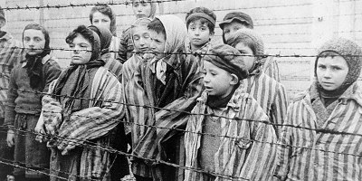 Children who survived Auschwitz. Taken by Alexander Voronzow and other Soviet soldiers who liberated them