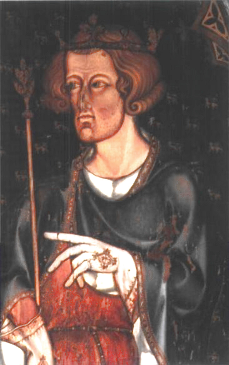 Potrait thought to represent Edward I. He was known as Longshanks, for he was very tall and Hammer of the Scots. Guess why