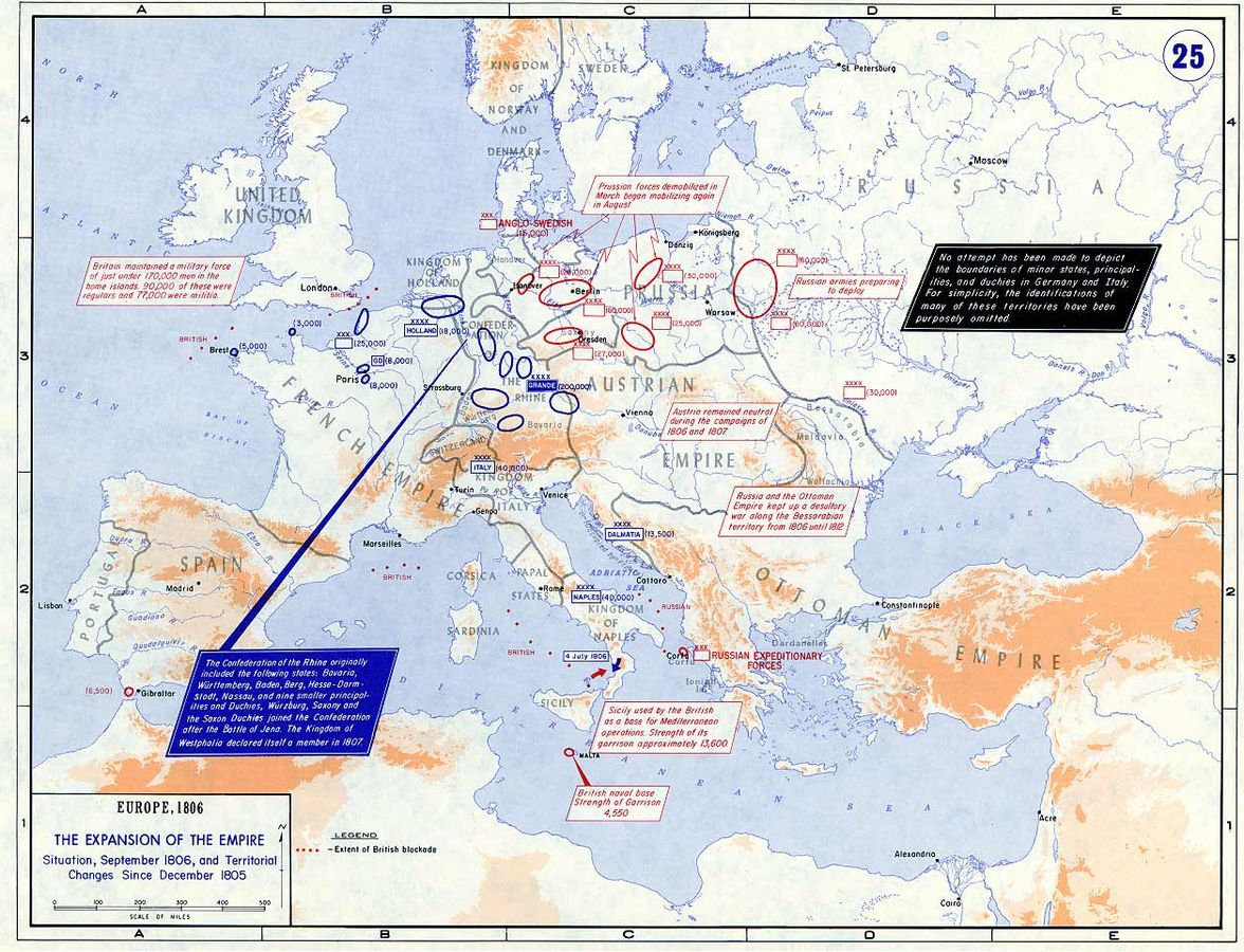 Europe, 1806