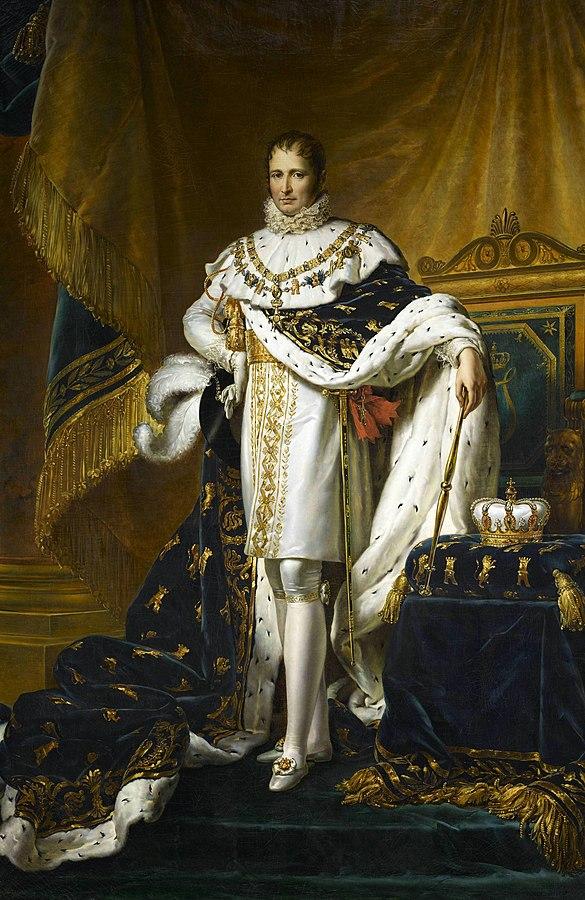 Joseph Bonaparte with his royal robes