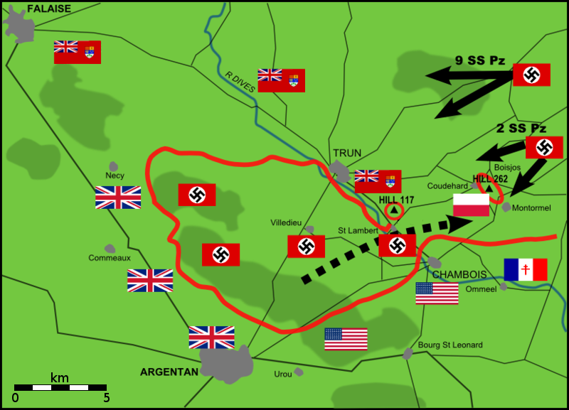 Trapped between the 2nd Panzer Division and units pressing to escape the pocket, the Polish and Canadian divisions had a rough time