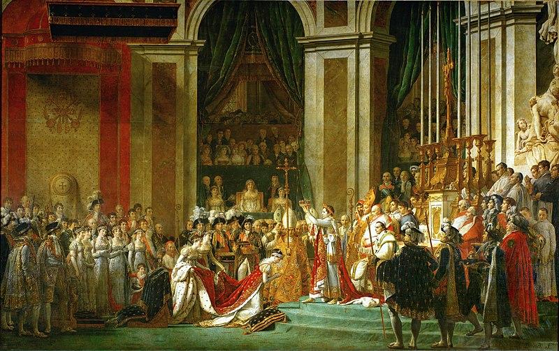 Napoleon puts the crown on Joséphine's head