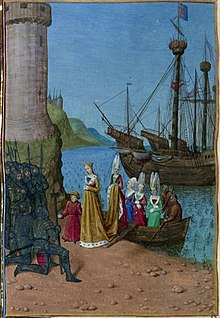 Isabella and Edward III land in France, 1326