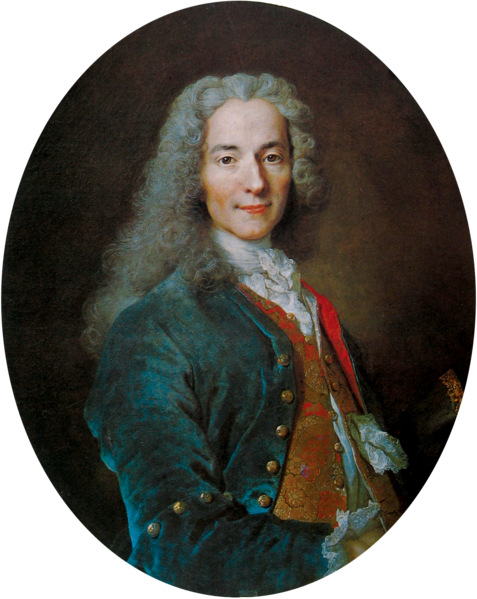François-Marie Arouet (1694-1778). Known as Voltaire. Famous for advocating freedom of speech, and the separation of church and state