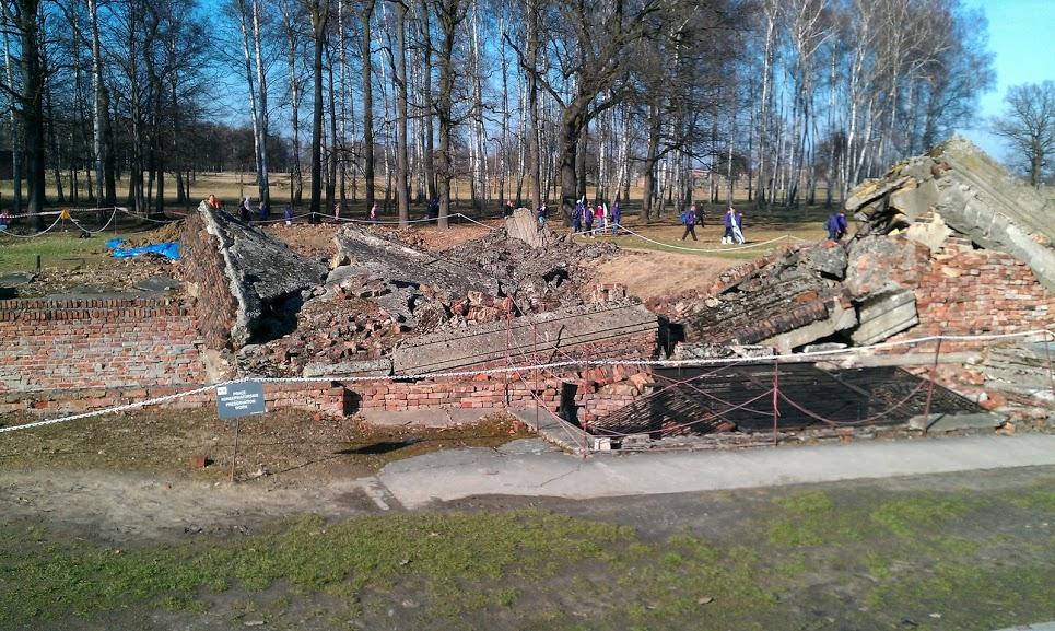 Ruins of a blown up Crematorium