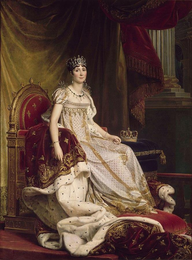Josephine sitting on the throne