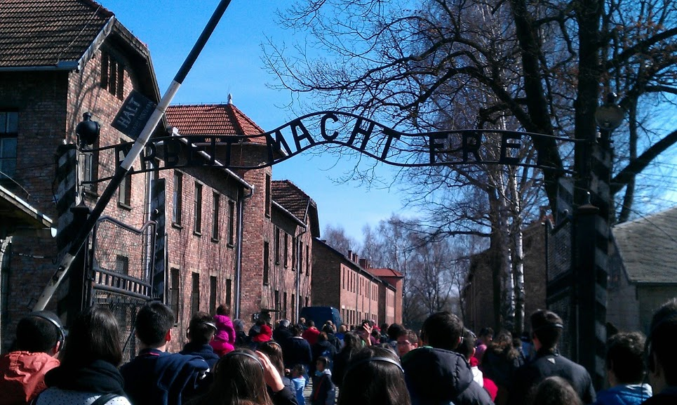 The famous sign that stood in all concentration and extermination camps