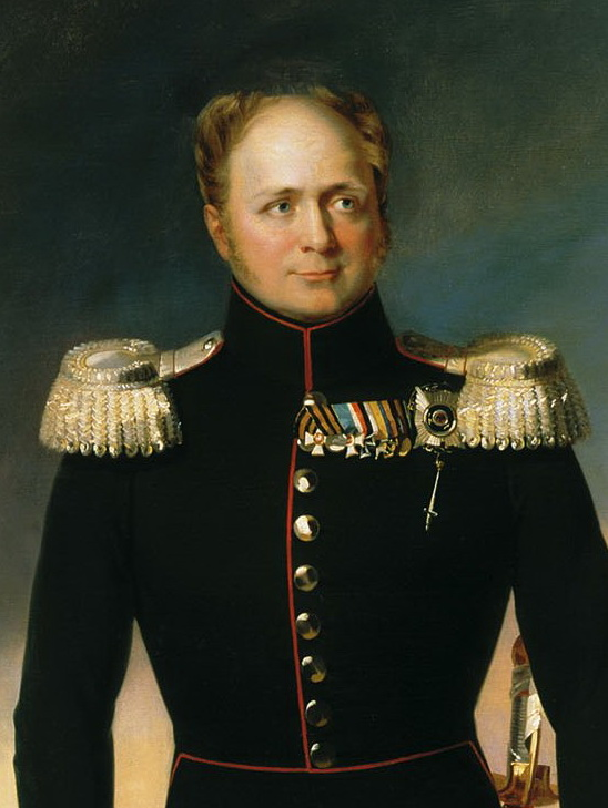 Alexander in black military uniform