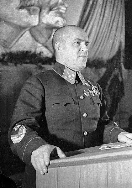 Zhukov giving a speech in 1941