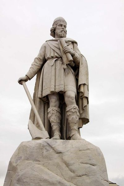 Alfred the Great. Statue in Wantage