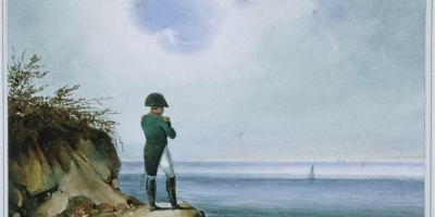 Napoleon on Saint Helena. Painting by František Xaver Sandmann,1820. Collection of Musées de l'île d'Aix.
